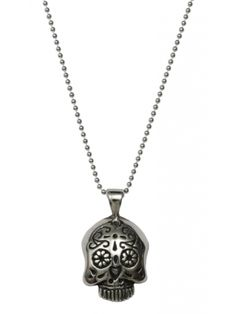 Sugar Skull Necklace by Femme Metale