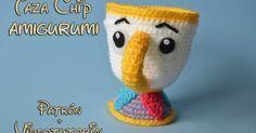taza chip amigurumi patron gratis taza primark ganchillo la bella y la bestia kawaii crochet doll plushie cute free pattern bella y bestia amigurumi