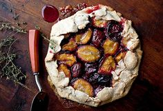 Rustic Plum Crostata With Lemon Thyme  (Andrew Scrivani for The New York Times)