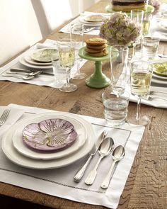 Four floral dessert/canape plates.