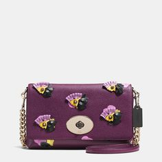 Crosstown Crossbody in Floral Applique Leather