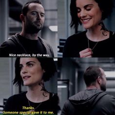 Jane, holding and touching the necklace when she's stressed. And THIS man. Tv Quotes, Movie Quotes, Funny Quotes, Funny Memes, Series Movies, Movies And Tv Shows, Tv Series, Blindspot Tv, Romantic Movies On Netflix