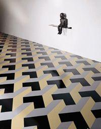 Armstrong Linoleum in Smithsonian Exhibit, love the geometric linoleum!