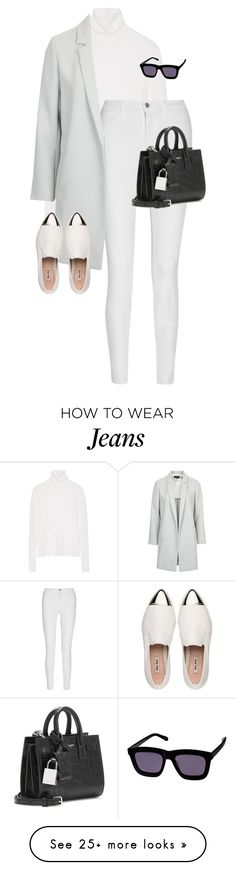 """Untitled #10371"" by alexsrogers on Polyvore featuring The Elder Statesman, J Brand, Topshop, Miu Miu and Yves Saint Laurent"
