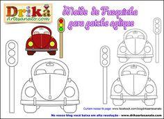 Patchwork moldes fusquinha para patch aplique | Drika Artesanato