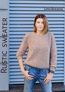 Ravelry: Rustic sweater pattern by Lana Bakaeva Summer Knitting, Lace Knitting, Knit Crochet, Ladies Cardigan Knitting Patterns, Cardigan Pattern, Only Clothing, Knitwear Fashion, Mohair Sweater, Knit Picks