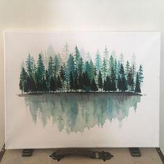 "134 Likes, 7 Comments - WittyWreaths (@wittywreathsstudio) on Instagram: ""Adventure awaits . . . #watercolourart #watercolorforbeginners #watercolorforest #watercolor…"""