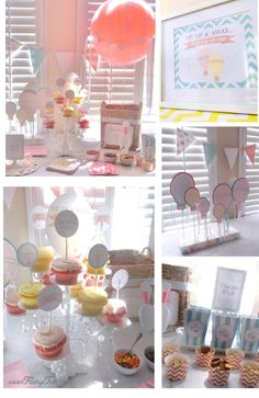 darling hot air balloon baby shower party :)