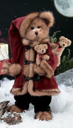 In the bear world dressing up as father Christmas is still wrong ... getting other bears involved is just evil...