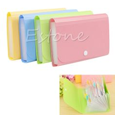 Cheap fastener, Buy Quality fastener bag Directly from China Suppliers:OOTDTY Document File Bag Pouch Bills Folder Card Holder Organizer Fastener Random Womens Luggage, Pouch, Wallet, Layers Design, Pink Yellow, Blue Green, Wish Shopping, Fasteners, Brand Names