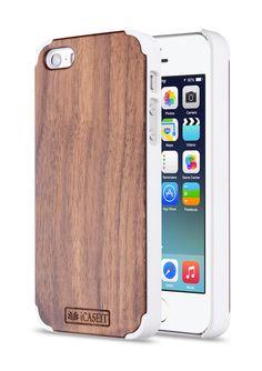 Amazon.com: iPhone 5 / 5s Case | Walnut / White - iCASEIT [Non-Slip] [Exact-Fit] Unique & Slim [Fit Series] [Thin Fit] Premium Non Slip for iPhone 5 / 5s - Walnut / White: Cell Phones & Accessories