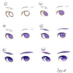 Eye Tutorial by PockySticky.deviantart.com on @DeviantArt