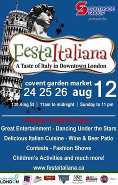 Festa Italiana Covent Garden, Wine And Beer, Under The Stars, Festivals, Events, Entertaining, London, Italy Party, London England