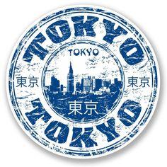 2 x Tokyo Japan Vinyl Sticker Laptop Travel Luggage Car Luggage Stickers, Laptop Stickers, Printable Stickers, Cute Stickers, Travel Stamp, Tumblr Stickers, Aesthetic Stickers, Custom Stamps, Scrapbook Stickers