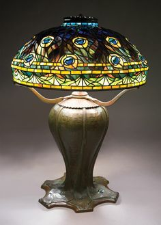 Tiffany Studios Peacock Table Lamp, Estimate: $150,000/200,000 #michaans #lctiffany #tiffanystudios http://www.michaans.com/highlights/2014/highlights_04122014.php