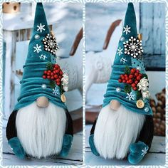 Gnomos navideños paso a paso - Dale Detalles Elf Christmas Decorations, Christmas Gnome, Christmas Projects, Christmas Ornaments, Felt Crafts, Holiday Crafts, Diy And Crafts, Theme Noel, Free Images