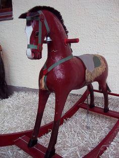 ANTIQUE GERMAN ROCKING HORSE 1880 WOODEN HORSE CAROUSEL HORSE