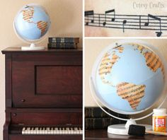 Cutesy Crafts: Sheet Music Globe