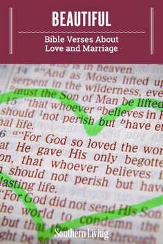 Use these Bible verses about marriage to declare the happiness, joy, and appreciation you feel toward your sweetheart while also relying on your faith. Take a look at some of the most cherished Bible verses about love that you can include in your wedding ceremony and everyday life. #bibleversesaboutmarriage #bibleversesaboutlove #marriagebibleverses #southernliving Marriage Bible Verses, Bible Verses About Love, Bible Love, Proverbs 30, Psalm 143, What Is Evil, Love Your Wife, Southern Sayings, Love And Marriage