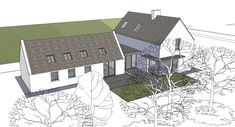 Architecture Home Design Projects Inspirations for Yours Click Images Below To See Larger Farmhouse Extension Plans Modern Design Irish Cottage, Old Cottage, Modern Cottage, Cottage House Plans, Cottage Ideas, Modern Bungalow, Modern Farmhouse, Building Extension, Extension Plans