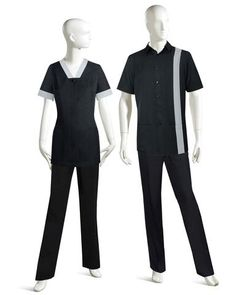A modern and sleek approach to classic Housekeeping UNIFORMS. All colors and fabrics are selected to specifically fit your climate and laundering needs. Cafe Uniform, Hotel Uniform, Office Uniform, Men In Uniform, Cleaning Uniform, Housekeeping Uniform, Beauty Uniforms, Scrubs Uniform, Corporate Wear
