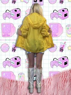 Bright Yellow Vintage Aspen Raincoat Windbreaker Hoodie, Unisex Men's Women's One Size Best Rain Jacket, North Face Rain Jacket, Rain Jacket Women, Raincoats For Women, Jackets For Women, Clothes For Women, Nylons, Womens Fashion Australia, 80s And 90s Fashion