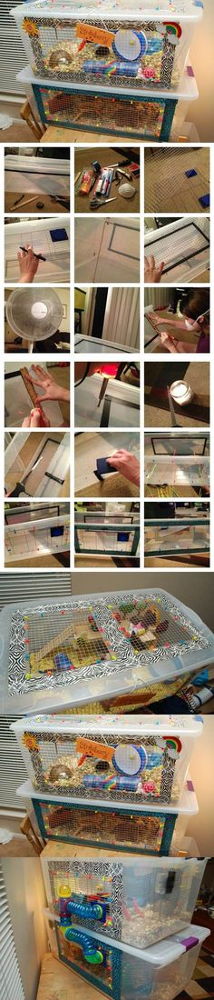 DIY Bin Cage for Hamsters | LovePetsDIY.com