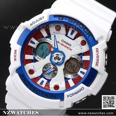 Casio G-Shock White Tricolor Series Limited Watch GA-201TR-7A, GA201TR