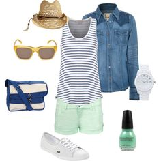 """""""Outfit of the week - Summer stripes"""" by kateholland on Polyvore"""