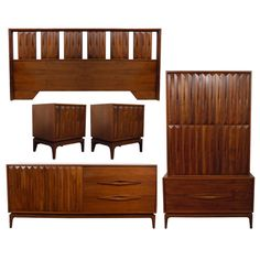 This item is on hold for a customer. Please contact us if you are interested. 1950s-60s Gorgeous Mid Century Modern Danish Style bedroom set.