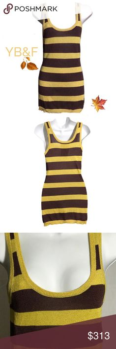 Young Fabulous & Broke Glitter Tank Top Young Fabulous & Broke Glitter Tank Top Brown/Gold Striped Tank with Gold Glitter, Longer than avaerage, Size (L) Young Fabulous & Broke Tops Tank Tops