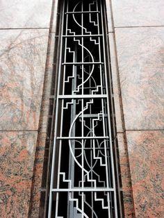 art deco    metalworks doorway