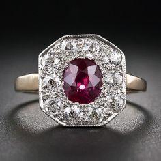 Edwardian Ruby and Diamond Ring