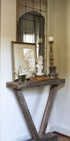Diy Home decor ideas on a budget. #agedwood #natural #quaint Love this. It's small but amazing.