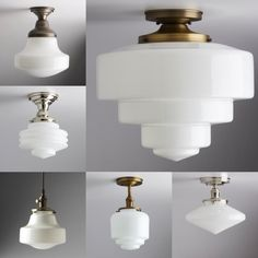 Apartment Lighting, Hand Blown Glass, Milk Glass, Art Deco, Ceiling Lights, Instagram, Design, Home Decor, Decoration Home