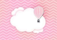 Convite Balão de Ar Quente Rosa 2