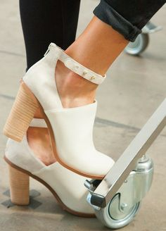 white ankle high booties.