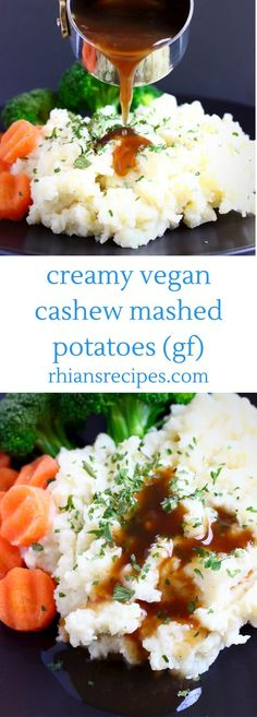 These Creamy Vegan Mashed Potatoes are the side dish you need in your life! They're melt-in-your-mouth creamy, soft and fluffy and so easy to make! Made with soaked cashew nuts,