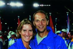 Katherine Grainger with Sir Steve Redgrave