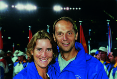 Katherine Grainger with Sir Steve Redgrave