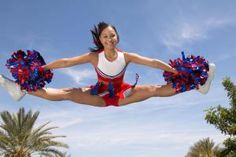 Here are some toe touch drills and tips for perfecting your cheerleading toe touches, from initial stretching to tips for higher jumps. Cheerleading Flyer, Cheerleading Workouts, Cheer Tryouts, Cheerleading Pictures, Cheer Coaches, Cheer Stunts, Cheer Dance, Cheer Pictures, Cheer Mom