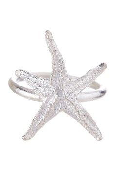 {Sterling Silver Starfish Ring} KiraKira Jewelry