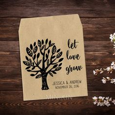 Let Love Grow Tree Wedding Seed Packets – W-A167