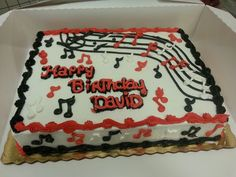 So this cuatomer wants music notes on his cake...I hope he likes it...