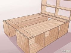 3 ways to build a bed frame. Something like this for the boys rooms, hinged…