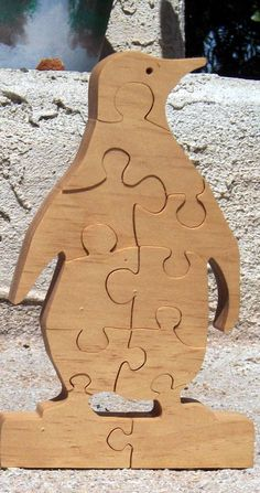 penguin scroll saw pattern | Penguin Puzzle - Scroll Saw Portraits