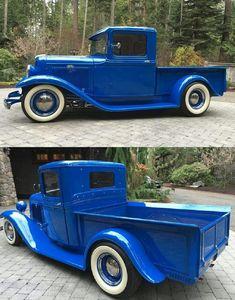 Hot Rod Pickup, Old Pickup Trucks, Classic Hot Rod, Classic Cars, Performance Bike, Pretty Cars, Vintage Trucks, Ford Models, Cool Trucks