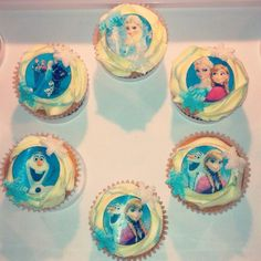 Frozen Cupcakes. Anna, Elsa, Olaf