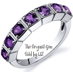 'Genuine Amethyst .925 Sterling Silver Ring SZ 5-9' is going up for auction at  6am Sat, Sep 15 with a starting bid of $1.
