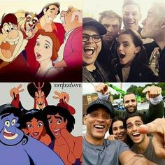 Beauty and the Beast 1991 and 2017 and Aladdin 1992 and 2019